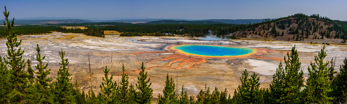 Grand prismatic Spring from the overlook