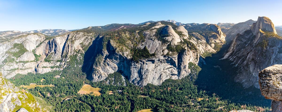 Aerial view of Yosemite Valley floor