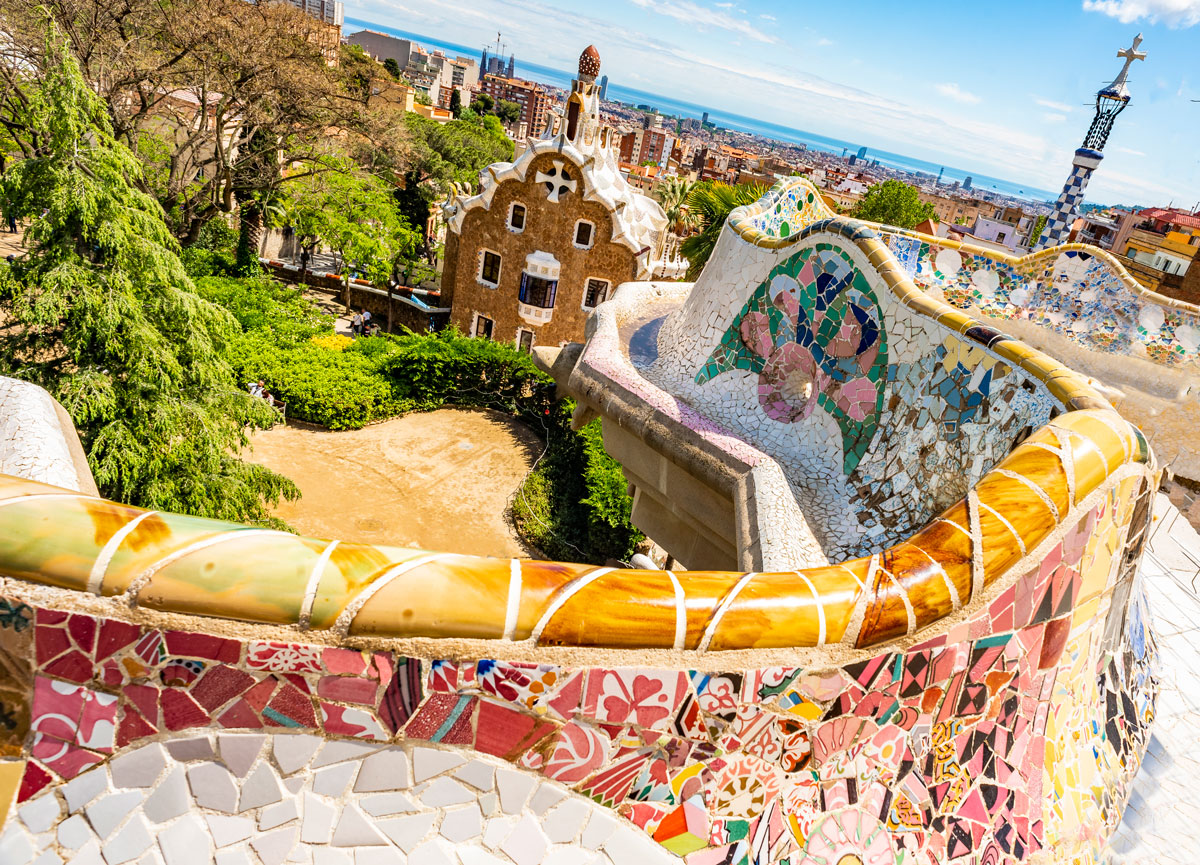 View over Barcelona from Park Guell