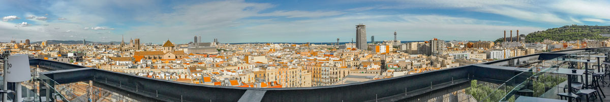 Looking East from the roof of the Barcelo Raval