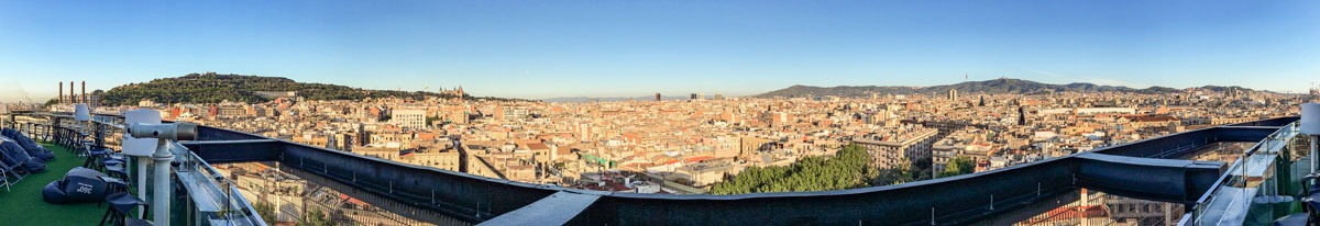 view fromBarcelo Raval roof terrace
