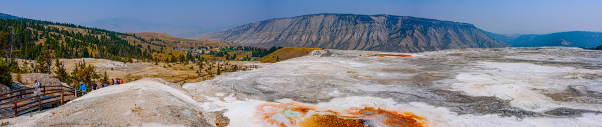 Travertine at Mammoth Hot Springs Yellowstone