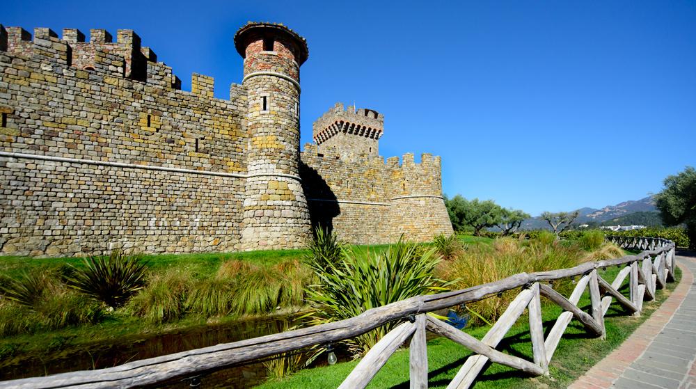 Castle walls of the Castello di Amorosa